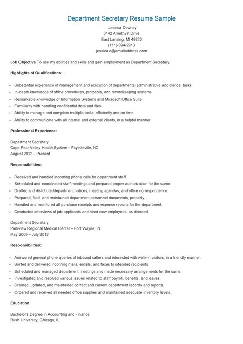resume sles department resume sle