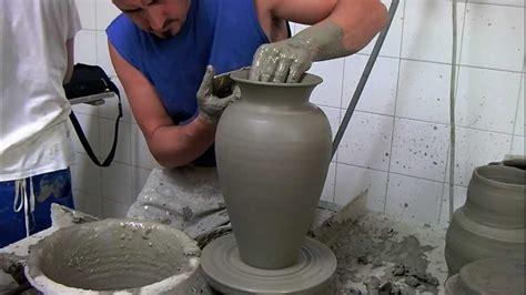 tornio per vasi vaso fatto al tornio