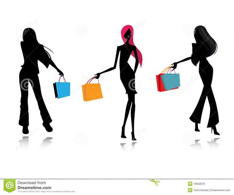 Shopping Mode by Achats Femelles De Mode De Silhouette Images Libres De