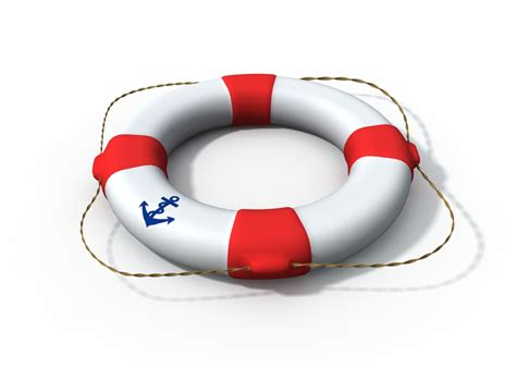 model boat life rings water safety poster