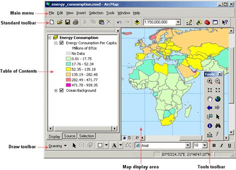 layout toolbar arcgis 10 arcmap