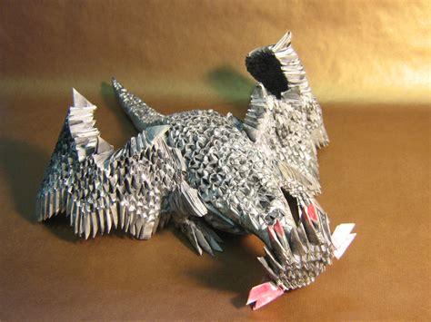 3d Origami Dragonfly - black 3d origami by aarrnnoo0123 on deviantart