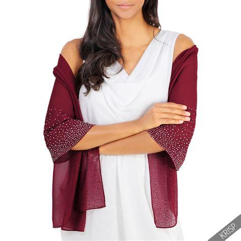 light scarves for summer lightweight gem diamante embellished scarf stole wrap