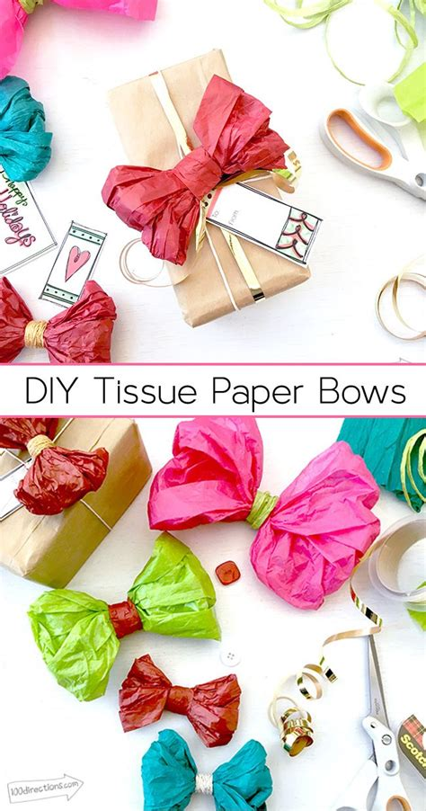 Make A Bow Out Of Tissue Paper - the 25 best paper bows ideas on gift bows