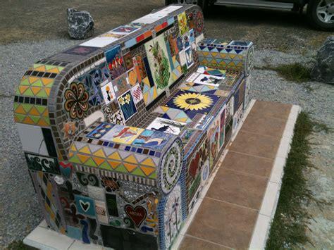mosaic bench around the world in 80 chairs mosaic bench tata beach