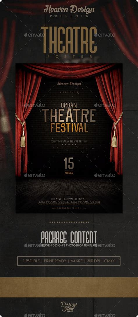 Theatre Flyer Acting Flyers And Theatres Theatre Template
