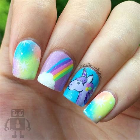 imagenes sobre uñas decoradas 17 mejores ideas sobre u 241 as unicornio en pinterest u 241 as
