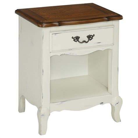 White Nightstands Home Style Countryside Stand In Oak And
