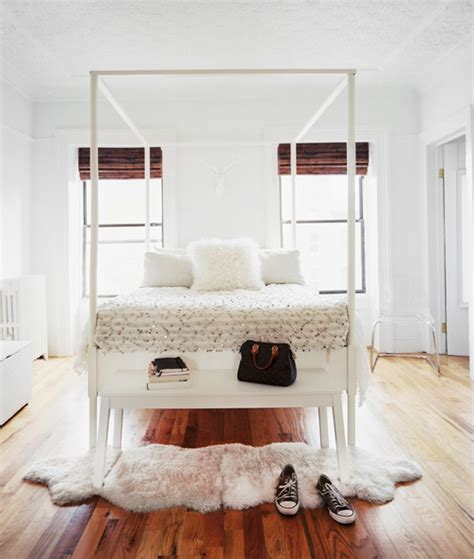 where to put a rug in a bedroom simple style put a sheepskin on it elements of style blog