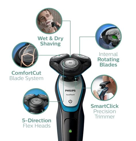 Philips Shaver Aqua Touch S5070 Hitam philips aquatouch and electric shaver s5070