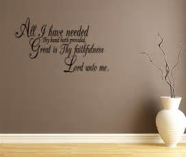 Vinyl Wall Stickers Quotes All I Have Needed Quote Lettering Vinyl Wall Decal