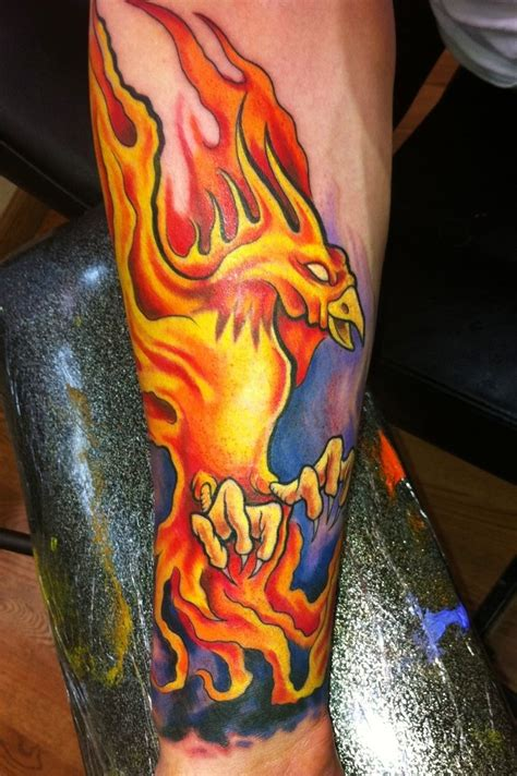 phoenix tattoo images bird on forearm tattoos favorite