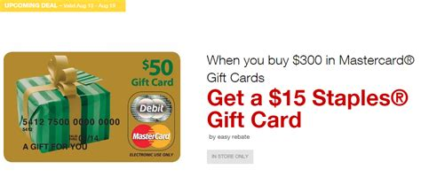 Staples Gift Card Deal - free money 5x at staples 15 rebate on mastercard gift cards miles to memories