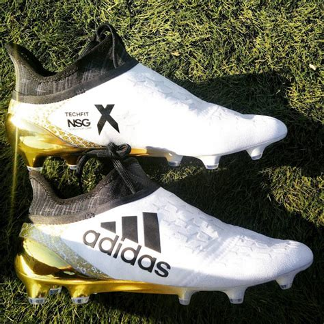 the adidas x purechaos 2016 2017 stellar pack football boots boast a stunning white and golden