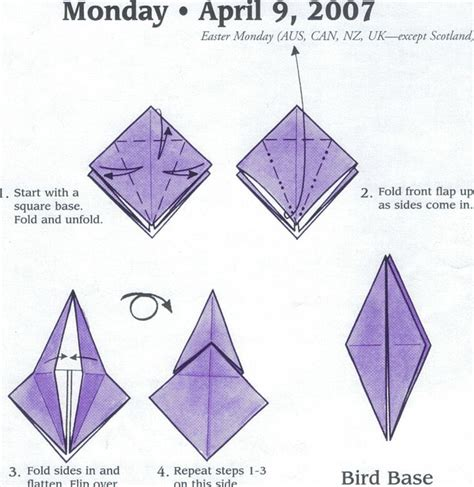 Origami Fish Base - bird base origami