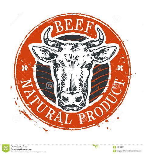 Cow Vector Logo Design Template. Beef Or Farm Icon Stock