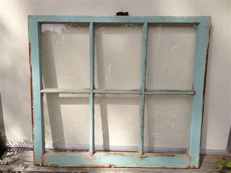 6 pane old window shabby chic turquoise blue frame