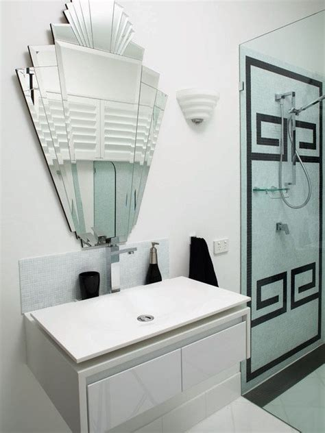 Deco Black And White Bathroom by 25 Best Ideas About Deco Mirror On