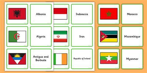 flags of the world twinkl flags of the world matching activity flags world flags of
