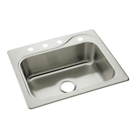 home depot kitchen sinks drop in sterling southhaven drop in stainless steel 22 in 4 hole