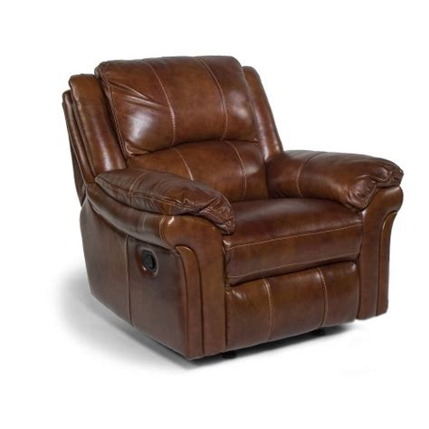 recliner chairs repairs dandridge leather recliner w power 1351 50p flexsteel