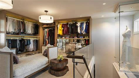 Two Story Walk In Closet by Two Story Walk In Closet With Built In Home Office Fresh Faces Of Design Hgtv