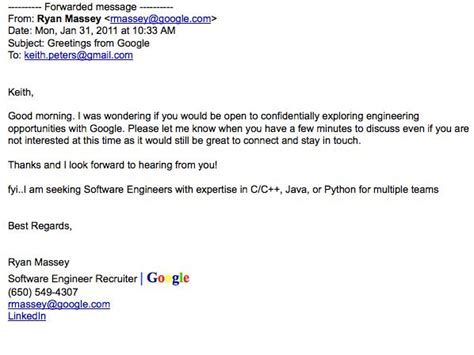 Email To Recruiter For Search Ceo Mocks For Trying To Poach His Quot Guys Quot Posts Recruiter S Email Business