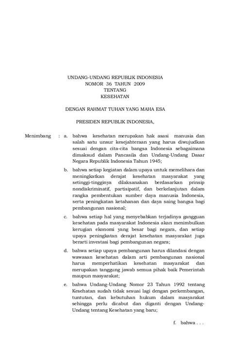 Undang Undang Republik Indonesia No 11tahun 1994 Tentang Ppn Ppn Bm uu no 36 th 2009 ttg kesehatan