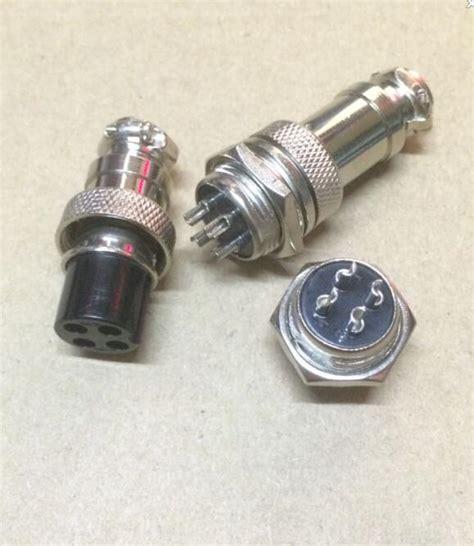 Black Housing 4 Pin Konektor 4p 10pair lot gx16 4 gx16 4pin 4p 16mm wire