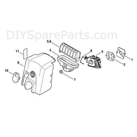 stihl ms250 chainsaw parts diagram stihl ms 250 chainsaw ms250 parts diagram air filter