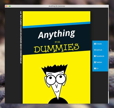 for dummies github ionicabizau anything for dummies fordummies cover generator with a simple
