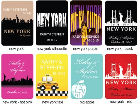 wedding favors new york new york personalized cards new york wedding