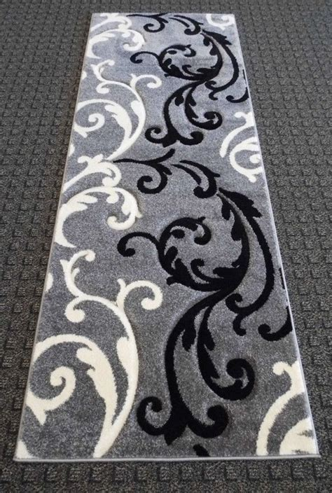 Black White Runner Rug by 301 Moved Permanently