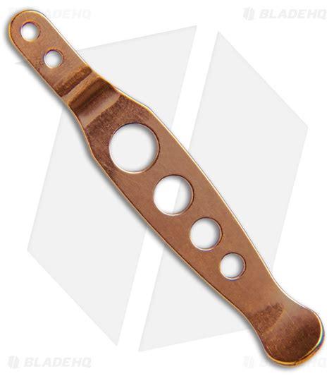 hinderer pocket clip hinderer knives xm holey copper pocket clip blade hq