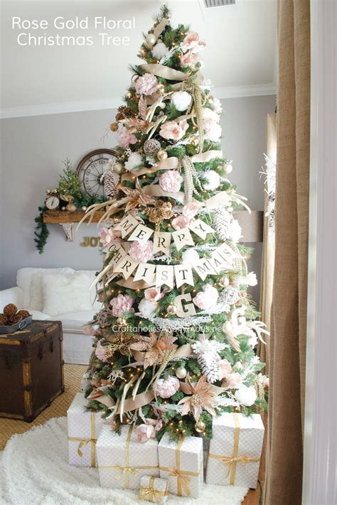 craftaholics anonymous 174 pink and gold floral christmas tree
