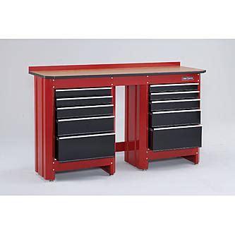 craftsman tool bench with drawers craftsman 5 drawer workbench module red black