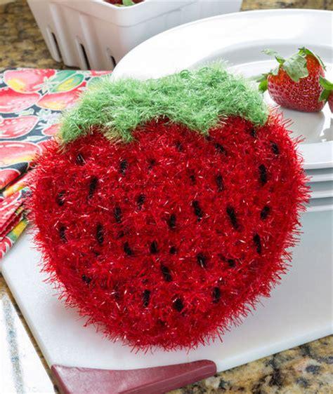 swirl scrubby free crochet pattern in red heart yarns strawberry sparkle scrubby red heart