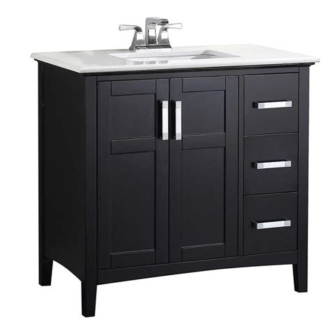 simpli home bathroom vanities shop simpli home winston black undermount single sink