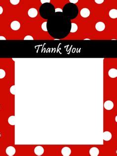 free mickey mouse thank you card template 1000 images about mickey mouse theme on