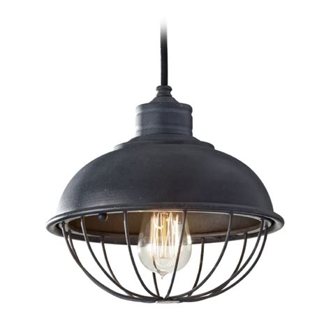 Retro Pendant Lighting Retro Style Mini Pendant Light With Bulb Cage Shade P1242af Destination Lighting