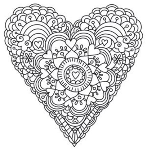 heart design coloring page printable coloriages coeurs