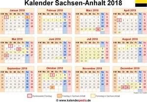 kalender 2018 sachsen anhalt ferien feiertage word vorlagen