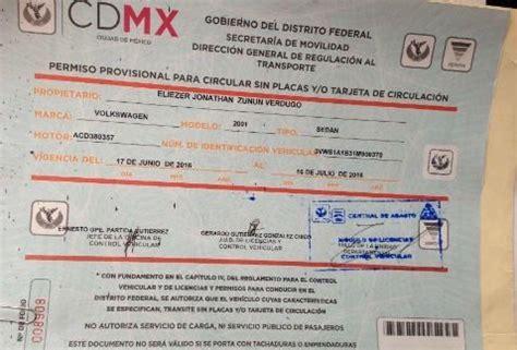 permiso por paternidad 2016 mexico cdmx se queda sin placas expide permisos para circular