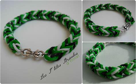 rainbow loom bracelet vert, blanc et noir   Photo de Mes bijoux dispos   Les P'tites Bricoles d