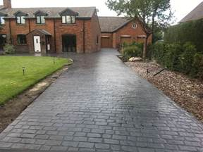 pattern concrete driveways in manchester complete driveways