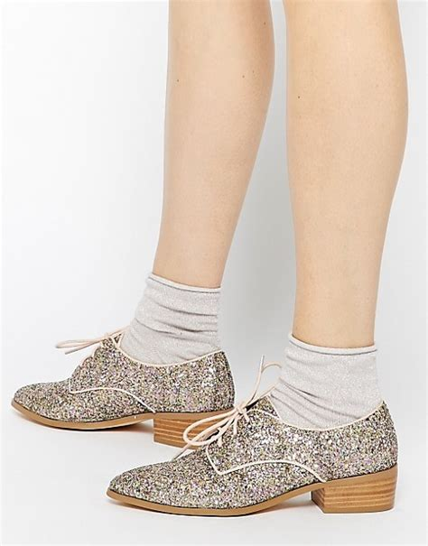 Sepatu Flat Shoes List Gold dune dune loris gold glitter flat shoes