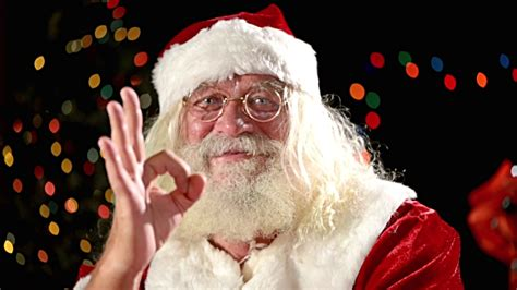 santa claus thumbs up santa claus thumbs up stock footage getty images