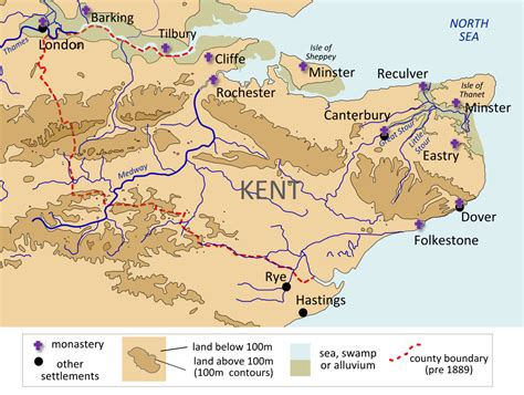 printable map kent kingdom of kent wikipedia