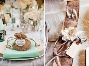 Burlap wedding favor ideas
