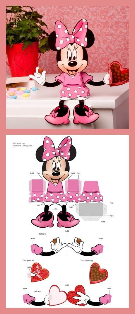 Minnie Mouse Papercraft - minnie mouse s day box boxes mice